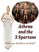 Athena and the 3 spartans